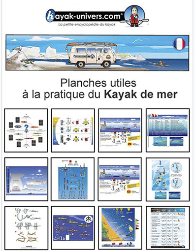 Planches utiles à la pratique du kayak de mer. A commander chez Amazon.